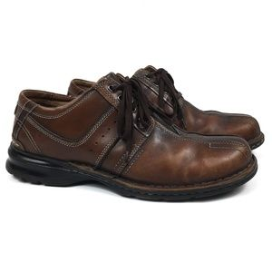 Clarks Brown 2-Tone Oxfords Dress Shoes Size 11.5